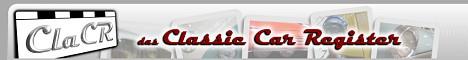 ClaCR ist das Online-Register für klassische Kraftfahrzeuge.